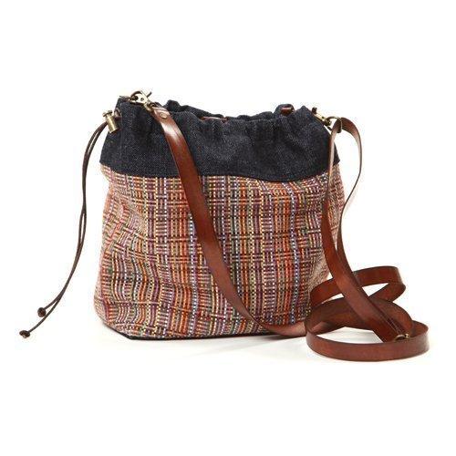 Bolso para mujer pequeño -Saca pequeña vaquera - Bolso de hombro combinado - Bandolera de tela -SAQUET Andean