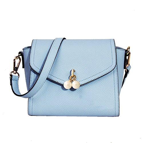 Yy.f Bolso Nuevo Bolso Casual Bolsa De Perlas Paquete Cuadrado Pequeño La Bolsa De Mensajero De Moda. Negro Azul Blue