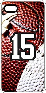 Football Sports Fan Player Number 15 White Rubber Decorative iPhone 5c Case by lolosakes