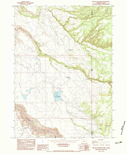 YellowMaps Deacon Crossing OR topo map, 1:24000 Scale, 7.5 X 7.5 Minute, Historical, 1982, Updated 1983, 26.6 x 21.9 in - Paper