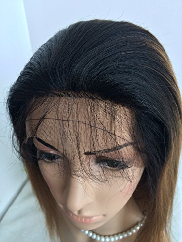 CHINESE VIRGIN HAIR,14 INCH,LIGHT YAKI FULL LACE WIGS SILK TOP BLEACHED KNOTS by April silk top wigs (Image #5)