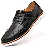 Mens Oxford Casual Classic Modern Dress Walking Shoes Business Lace Up...