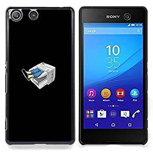 "Qstar Arte & diseño plástico duro Fundas Cover Cubre Hard Case Cover para Sony Xperia M5 E5603 E5606 E5653 (Máquina divertido Fax"")"