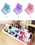Diy Makeup Vanity [3 Packs]Desk Organizer 3 Colors Foldable Dressing Table Tidy [Cosmetic Organizer] Makeup Storage, Stationery Pencil Holder