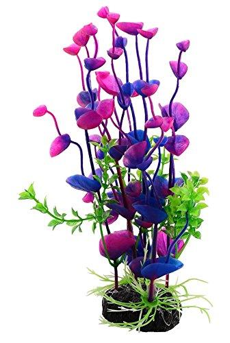 Healthy Clubs Aquarium-Dekoration, künstliches Kunststoffgras, Wasserpflanze, lila