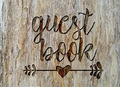 Guest Book: Rustic Chic Guest Book for Weddings, Showers & More