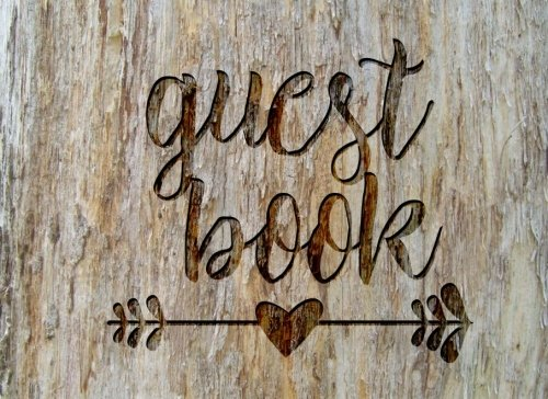 "Guest Book: Rustic Chic Guest Book for Weddings, Showers & More (8.25"" x 6.0 "")"