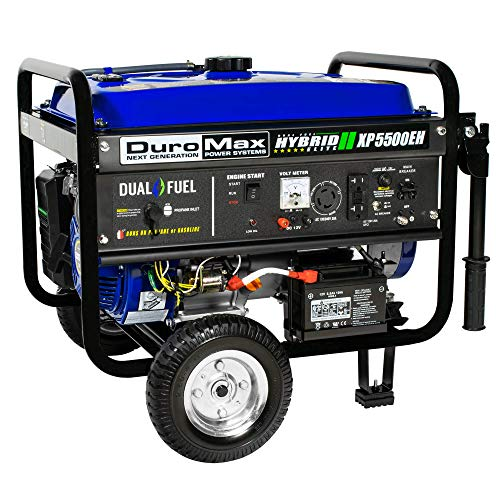 DuroMax XP5500EH 5,500 Watt 7.5 HP Portable Electric Start Dual Fuel Gas/Propane Generator by DuroMax (Image #2)