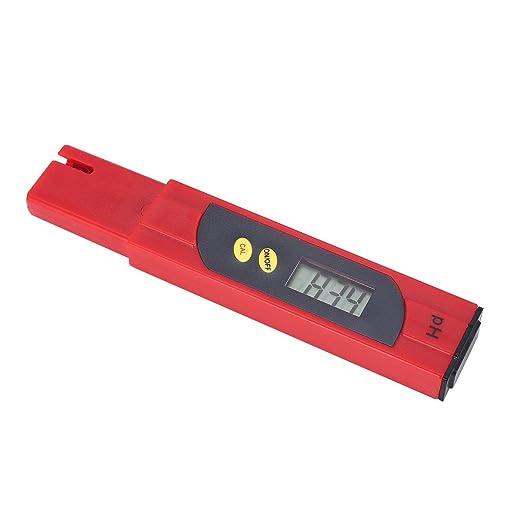 LCD Digital PH Meter 0-14PH Pen Tester Accuracy 0.01 for Aquarium Pool Water Quality Monitor Aquiculture HydroponicsRed