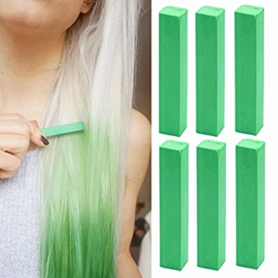Crazy Katy Perry Hair Style Green Hair Color | Hair friendly green Hair Dye | GREEN Hair Chalk | With Shades of Green Set of 6 Hair Color | Color your Hair Green in seconds with temporary HairChalk