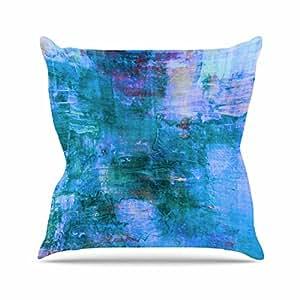 "KESS inhouse jd1195aop0318x 45,7""Ebi Emporium de Reef Azul Teal"" Cojín Manta de exterior, multicolor"