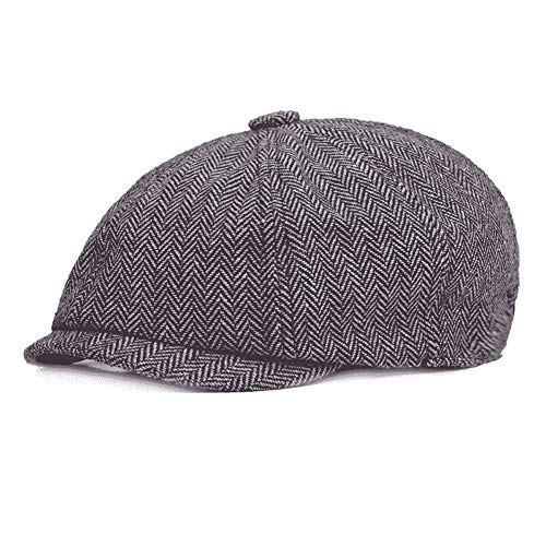 - Men's 8 Piece Newsboy Flat Cap, Irish Vintage Style Twill Casual Gatsby Ivy Golf Cabbie Hat