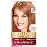 L'Oréal Paris Excellence Créme Permanent Hair Color, 8RB Medium Reddish Blonde, 1 kit 100% Gray Coverage Hair Dye