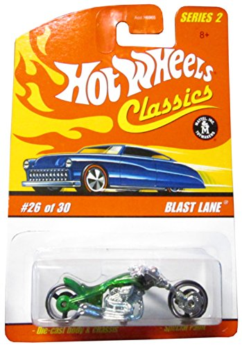 Hot Wheels 2005 Blast Lane (Motorcycle) 26/30, Green ()