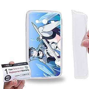 Case88 [Samsung Galaxy Core 2 / II G355H] Gel TPU Carcasa/Funda & Tarjeta de garantía - Akame ga Kill Esdeath 1682