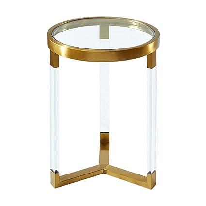 Tavolino In Cristallo Trasparente.Fei Lapdesks Tavolino In Cristallo Tavolino Rotondo In