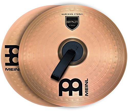 Meinl Cymbals MA-BO-18M Bronze Marching Cymbal Pair with Straps, Traditional by Meinl Cymbals