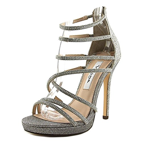 Nina Womens Finessa Open Toe Casual Strappy Sandals, Latte Dreamland, Size 8.5