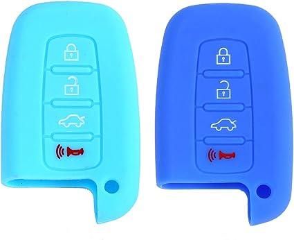 Silicone Remote Key Jacket Case Holder For Hyundai KIA Elantra Black Cover