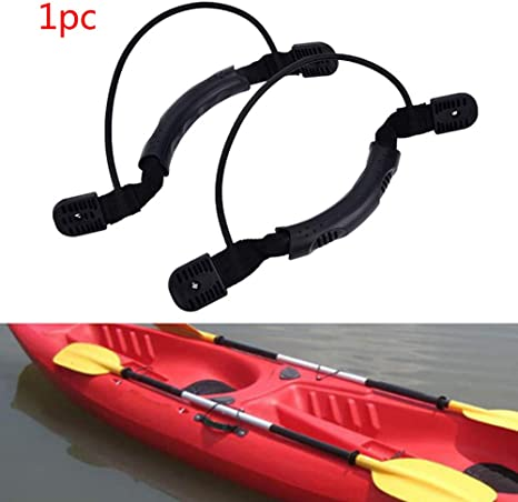 YXGOOD 4 Pcs Kayaks Canoe Boat Side Mount Carry Handle J Hook Kayak Handle Carry Handles Mount Paddle with Screws and Bungee Cord