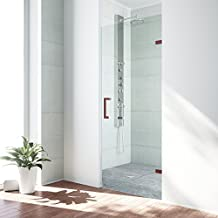 VIGO VG6072RBCL24 SoHo 2 Adjustable Frameless Shower Door with Clear Glass, 24-Inch, Oil Rubbed Bronze