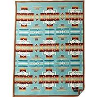 Pendleton Chief Joseph Crib Blanket, Aqua