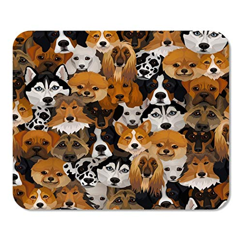 Suike Mousepad Computer Notepad Office Bernese Dogs Different Breeds Boxer Corgi Mountain Puppy Afghan Animal Cartoon Home School Game Player Computer Worker 9.5x7.9 Inch