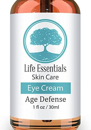 Eye Cream For Dark Circles, Puffiness, Bags & Wrinkles - 1 OZ - Best Under Eye Moisturizer & Treatment - Natural & Organic Anti Aging Formula For Crows Feet & Fine Lines - Satisfaction Guarantee - Cruelty Free