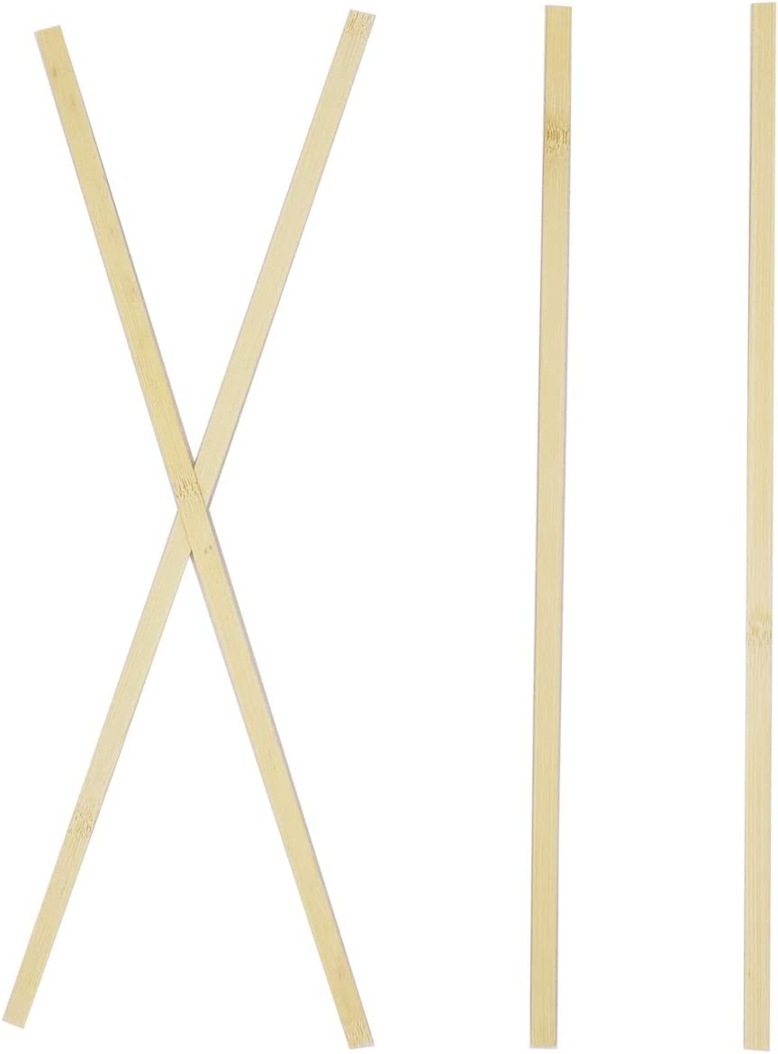 Extra Long Sticks Worown 60 pcs 14 Inch Strong Natural Bamboo Sticks Wood Strips for Craft Projects Wooden Craft Sticks 3//8 Inch Width