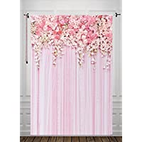5x7ft Pink Flower Backdrop Photography Background Weeding Background Silk Backdrop D-9354