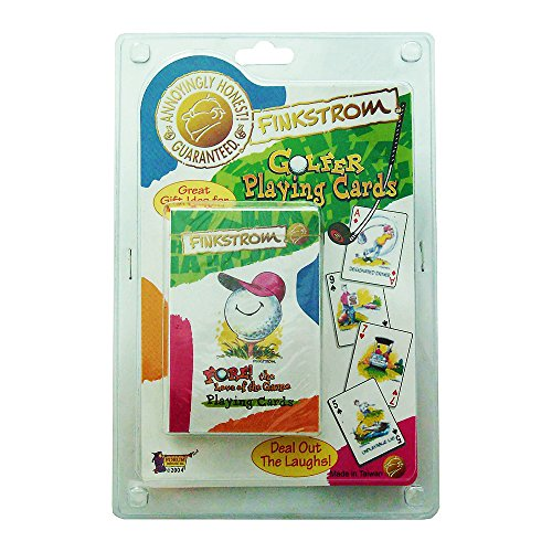 Forum Novelties Finkstrom Fore the Love of the Game Golf Golfer Cartoon Playing Cards 57764