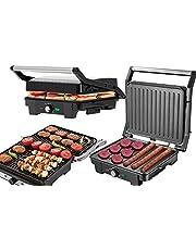 Kontaktgrill | 2 800 watt | smörgåsgrill | smörgåsgrill | Cool-Touch-teknik | Fett droppbricka | Elektrisk bordsgrill | Elektrisk grill | Paninigrill