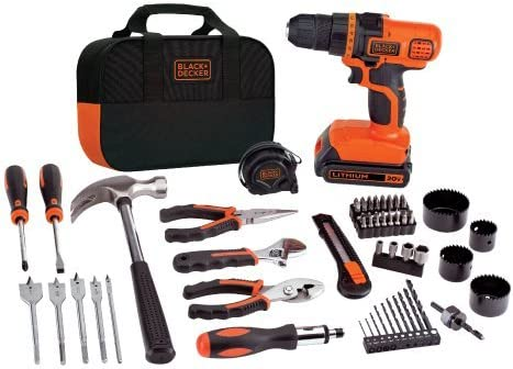 BLACK DECKER LDX120PK 20V MAX Cordless Drill and Battery Power Project Kit Renewed
