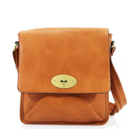 Messenger Satchel Faux Body Women Cross Ladies Bag Tote Tan Handbag Shoulder Leather xIdqnz