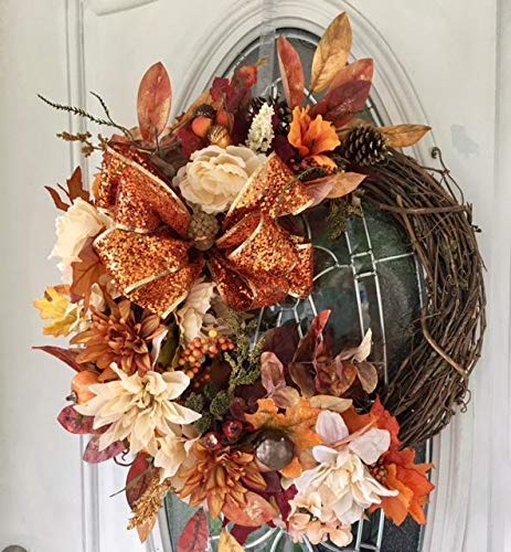 Fall Grapevine Wreaths, Fall Wreath for Front Door,