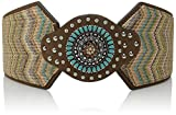 Nocona Women's Wide Stretch Chevron Belt, Multi Color, XL