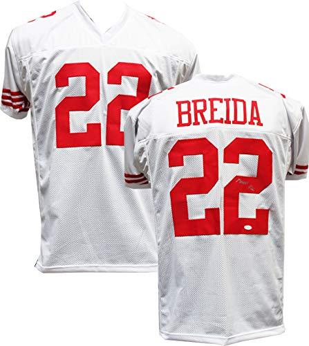 Authentic Matt Breida Autographed Signed White Football Jersey (TSE COA) - San Francisco 49ers RB