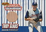 1999 Bowman's Best Troy Glaus Angels Game Used Bat Baseball Card #RB3