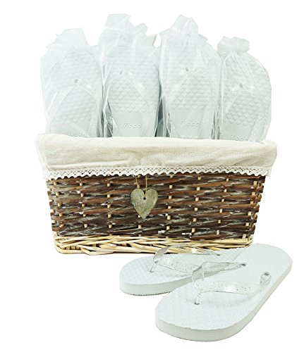 Wedding Party Flip Flop Guest Gift Basket 20 pairs by MODO