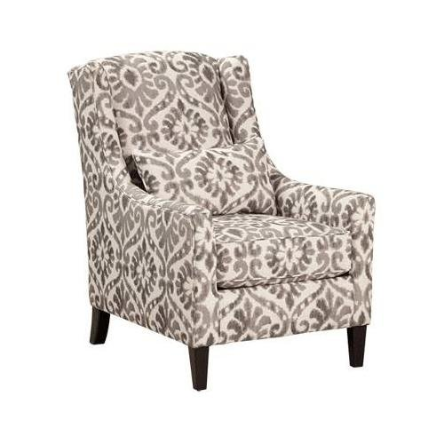 Ashley 8250021 Pierin Accent Chair with Pillow Included Loose Seat Cushion Tapered Legs and Piped Stitching in Dove
