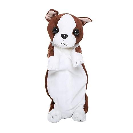 Luckyrainbow, estuche con forma de perro de felpa para ...