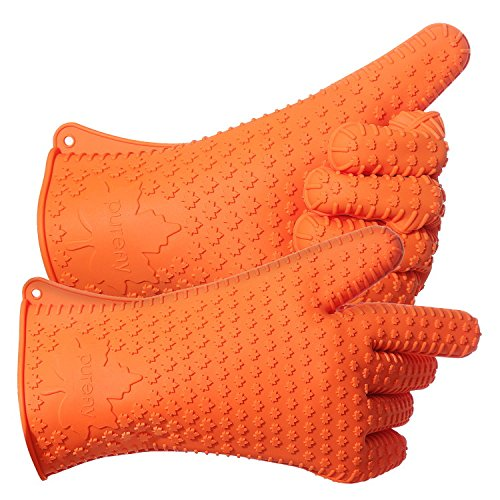 PUREFLY Orange Silicone Heat Resistant Gloves, ...