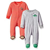 Baby Boys' Cotton Sleep and Play (Pack Of 2)