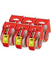 """Scotch Sure Start Packaging Tape, 1.88""""x 22.2 yd, Designed for Packing, Shipping and Mailing, Smooth and Quiet Unwind, 1.5"""" Core, Clear, 6 Dispensered Rolls (145-6)"""