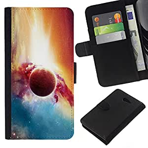 Stuss Case / Funda Carcasa PU de Cuero - Planet Galaxy - Sony Xperia M2