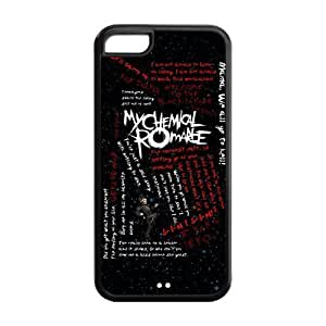 5C Phone Cases, My Chemical Romance Hard TPU Rubber Cover Case for iPhone 5C