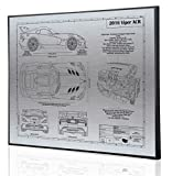 Dodge Viper ACR Blueprint Artwork-Laser Marked & Personalized-The Perfect Dodge Gifts