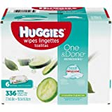 HUGGIES One & Done Refreshing Soft Pack Baby Wipes, 336 sheets, 6 count