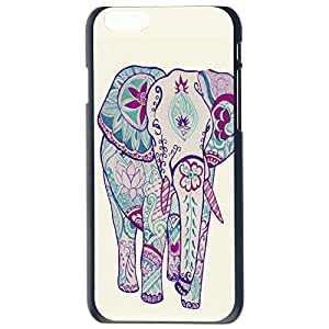 Fashion Custom Elephant Design Aztec Plastic Hard Case Cover Back Skin Protector For Apple iPhone 6G Plus 5.5 by Alexism Size58