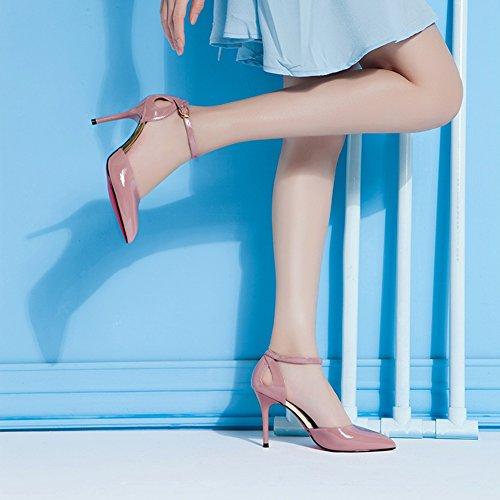 Hoxekle Femmes Sexy Talons Hauts Stiletto Pompes Printemps Mode Nouvel Élément Chaussures Rose